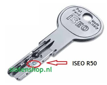 R50 ISEO platte certificaatsleutel SAA nabesteld